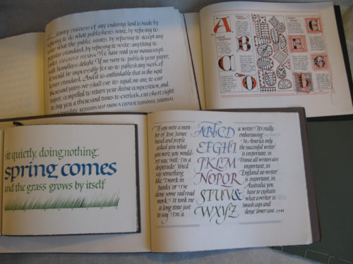 Lettering Calligraphy Journals