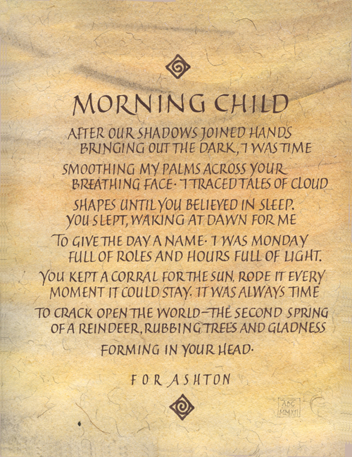 Lettering Resolutions Morning Child