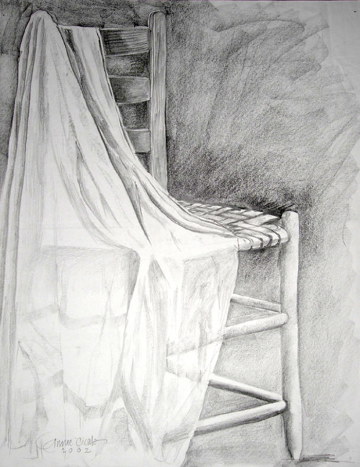 Drawing Chair with drape