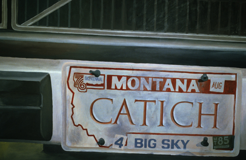 Painting F. Catich Vanity Plate