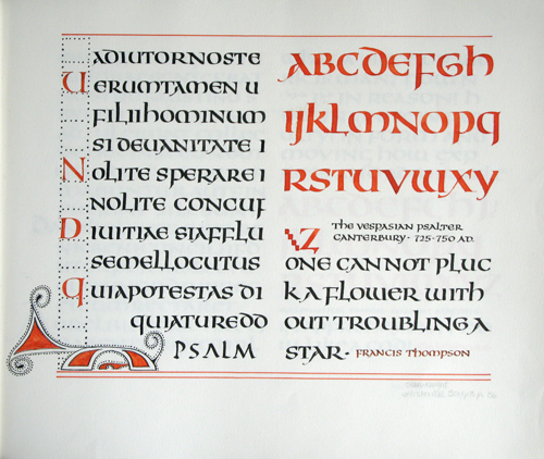 Lettering Uncial study