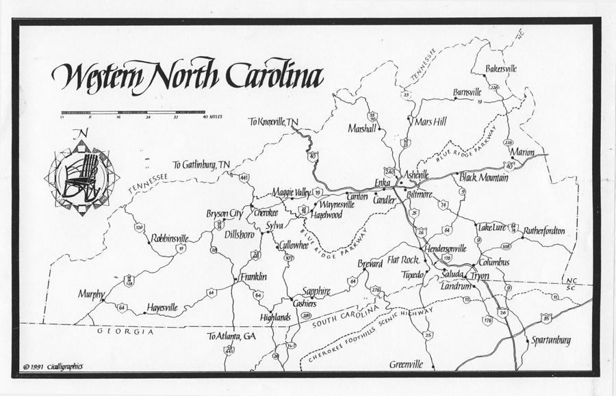 Cartography Western NC Antiques